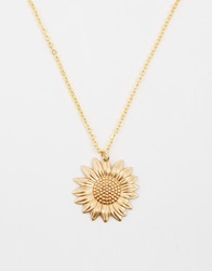 Regal Rose Sundance 70S Sunflower Pendant Necklace Gold