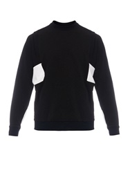 Public School Contrast Panel Crew Neck Sweatshirt