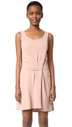 Maiyet Draped Fit And Flare Dress Light Mauve