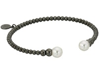 Majorica 8Mm Bead Steel Bracelet Black White Bracelet