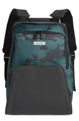 Moleskine Nomad Water Resistant Backpack Green Camo Green