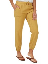 Fat Face Linen Blend Drawstring Trousers Sunbeam