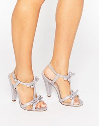 Paper Dolls Ellette Lilac Mesh Bow Sandals Lilac Purple