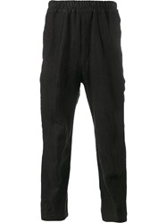 By Walid Ess Embroidered Trousers Black