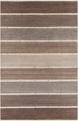 Chandra Elantra 51702 Patterned Rectangular Knotted Wool Area Rug Brown