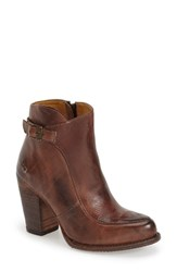 Women's Bed Stu 'Isla' Stacked Heel Boot Teak Rustic Leather
