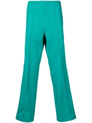 Maison Martin Margiela Flared Leg Trousers Green