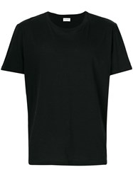 Saint Laurent Rear Print Fitted T Shirt Black