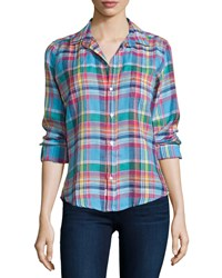 Frank And Eileen Barry Long Sleeve Plaid Shirt Multi Colors