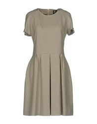 Tricot Chic Short Dresses Light Grey