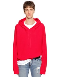 Rta Hooded Cotton Knit Sweater Red