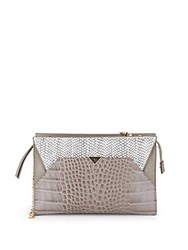 Vince Camuto Embossed Leather Clutch Black