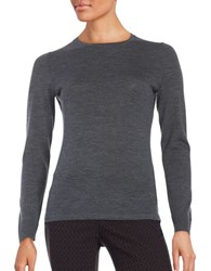 Lord And Taylor Crewneck Merino Wool Sweater Graphite Heather
