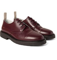 Common Projects Cadet Leather Derby Shoes Burgundy