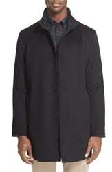 Paul And Shark Men's 'Typhoon' Reversible Wool Blend Waterproof Car Coat