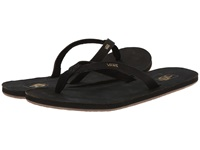Vans Bahia Leather Black Gold Women's Sandals