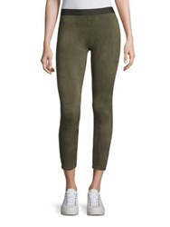 David Lerner Barlow Cropped Leggings Olive