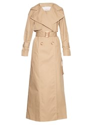 See By Chloe Double Breasted Oversized Collar Trench Coat Beige