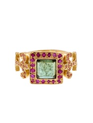 Sabine G Sapphire Tourmaline Topaz And Gold Ring