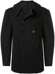 Fake Alpha Vintage U.S. Navy Peacoat Black