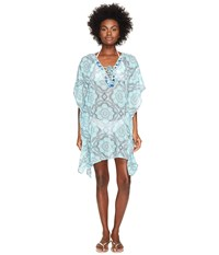 Letarte Printed Cover Up Turquoise Multi Women's Swimwear