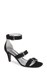 David Tate Candice Sandal Black Satin