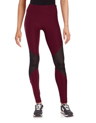 Steve Madden Mesh Inset Leggings Elderberry
