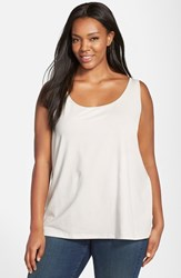Plus Size Women's Nic Zoe 'Modern Perfect' Knit Tank Powder