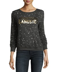 Spiritual Gangster Constellation Logo Sweatshirt Gray Gray Pattern