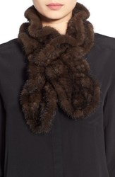 Women's Dena Genuine Mink Fur Pull Through Scarf