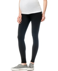 A Pea In The Pod French Terry Maternity Leggings Black