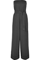 J.Crew Draft Strapless Wool Jumpsuit Gray