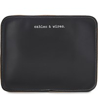 Undercover Cables And Wires Leather Pouch Black