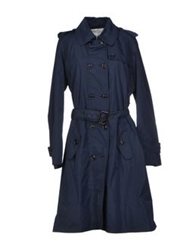 Henry Cotton's Full Length Jackets Dark Blue