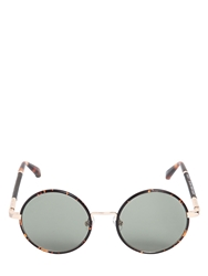 The Row Leather And Acetate Round Sunglasses Brown
