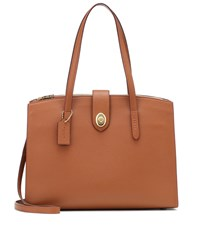 Coach Charlie Carryall Leather Tote Brown
