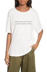 Public School Women's Everything I Like Graphic Tee Off White