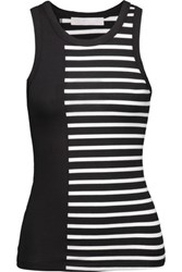 Kain Label Holland Striped Stretch Jersey Tank Black