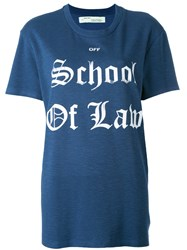 Off White School Of Law T Shirt Blue