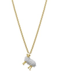 Kate Spade New York Gold Tone Imitation Pearl Sheep Pendant Necklace
