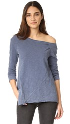 Wilt One Shoulder Slouchy Tunic Long Sleeve Indie