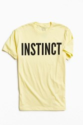 Urban Outfitters Instinct Tee Yellow