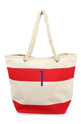 Cathy's Concepts Personalized Stripe Canvas Tote Red Red I