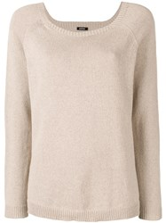 Aspesi Boat Neck Jumper Neutrals