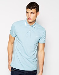Dkny Herringbone Polo Shirt Blue