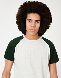 The Idle Man Short Sleeve Raglan T Shirt Green