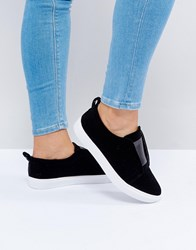 Head Over Heels By Dune Velvet Sneakers Black