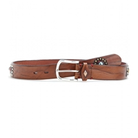 Fausto Colato Embellished Leather Belt Cognac Strass Multi