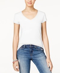 Energie Juniors' Mila V Neck Tee White