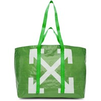 Off White Green New Commercial Tote